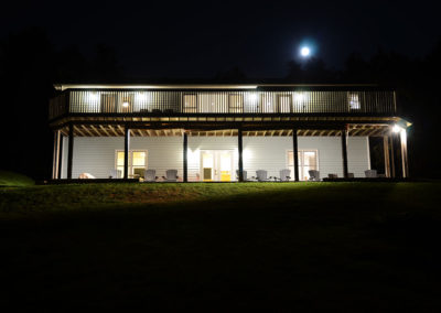Lazy Loon Lakehouse at Night with Moon 2019