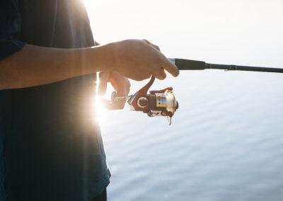 Enjoying the fishing at Lazy Loon Lakehouse