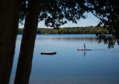 Enjoying the peace - Lazy Loon Lakehouse