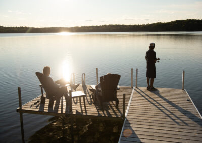 Just hanging with the kids - Lazy Loon Lakehouse