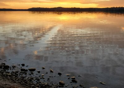 Lazy Loon Lakehouse Fall Sunsets--Oct2020
