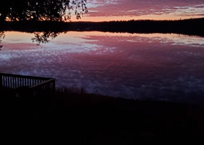Lazy Loon Lakehouse Sunset--Oct2020